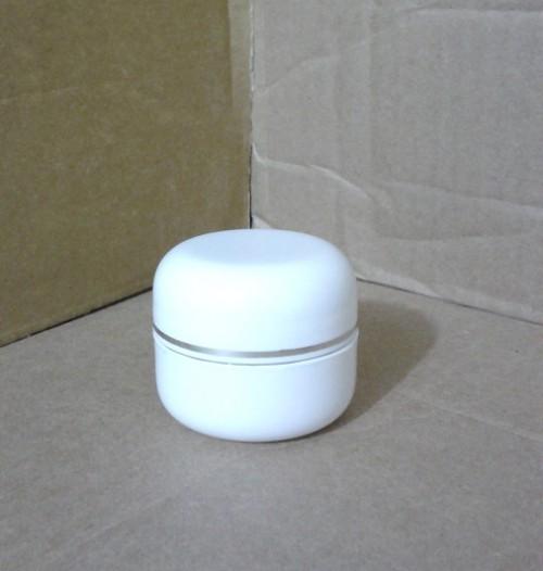 Pot 15 Gram Putih List Silver Inset