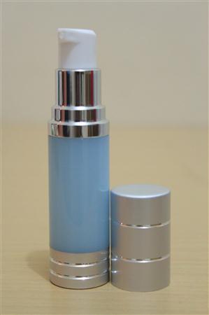 Botol Pump Impor 15 ML Biru   AIRLESS BOTTLE Tutup Terbuka