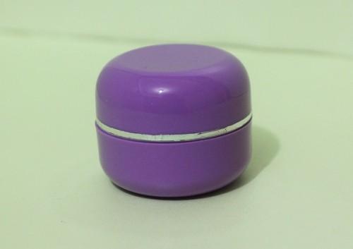 Pot Cream 12,5 Gram Oval Ungu Tua List Silver