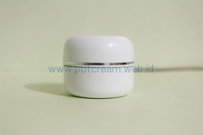 Pot 15 Gram Putih List Silver ( Inset )