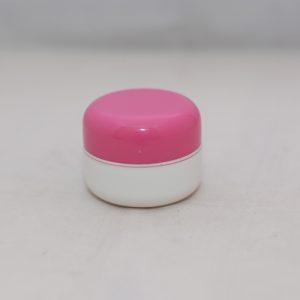 Pot 12,5 Gram Oval Pink Fanta Putih List Silver PP