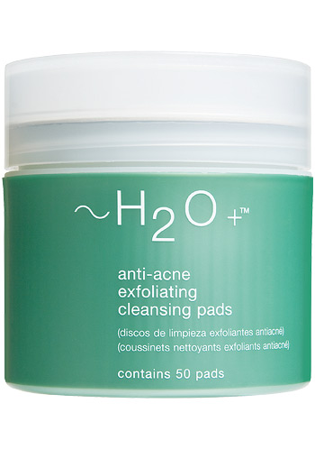 Anti-Acne Exfoliating Cleansing Pads / photo from http://www.h2oplus.com