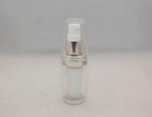 Botol Pump Acrylic Natural 15 ML