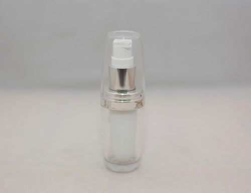 Botol Pump Acrylic Natural 15 ML