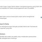 Pemeliharaan / Troubleshooting Aplikasi & Sistem Cloud Kilat