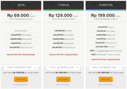 Paket Unlimited Hosting beon.co.id