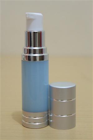 Botol Pump Impor 15 ML Biru | AIRLESS BOTTLE Tutup Terbuka