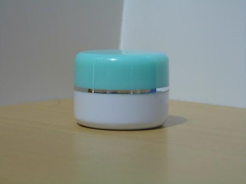 Pot Cream 12,5 Gram Hijau Melon Putih List Silver PS